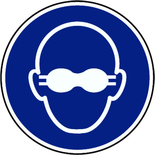 """USE EYE PROTECTION"" LOGO"