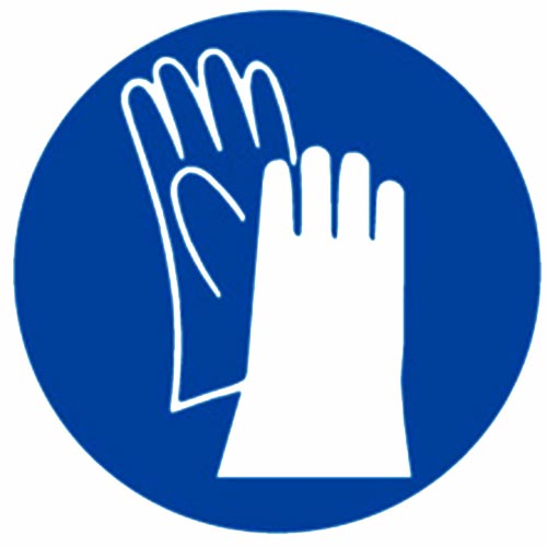 """USE PROPER SAFETY GLOVE"" LOGO"