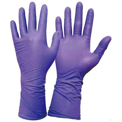 "Kimberly-Clark* Purple Nitrile-Xtra* Exam Glove 12"""
