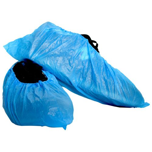 DEVALL DISPOSABLE PE SHOE COVER BLUE