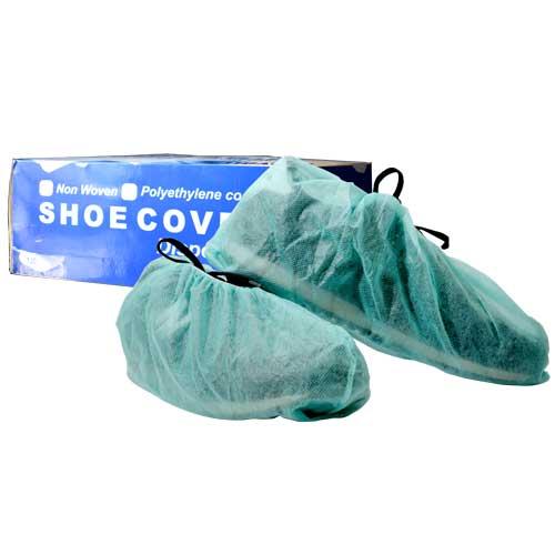 DEVALL NON WOVEN SHOE COVER - GREEN, 100 Pcs/Box