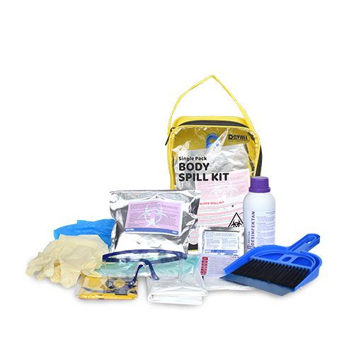 DEVALL SINGLE PACK Blood Body Spill Kit