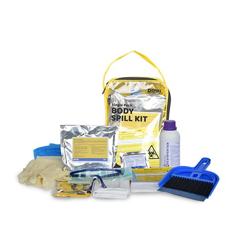 DEVALL SINGLE PACK Vomit & Urine Body Spill Kit