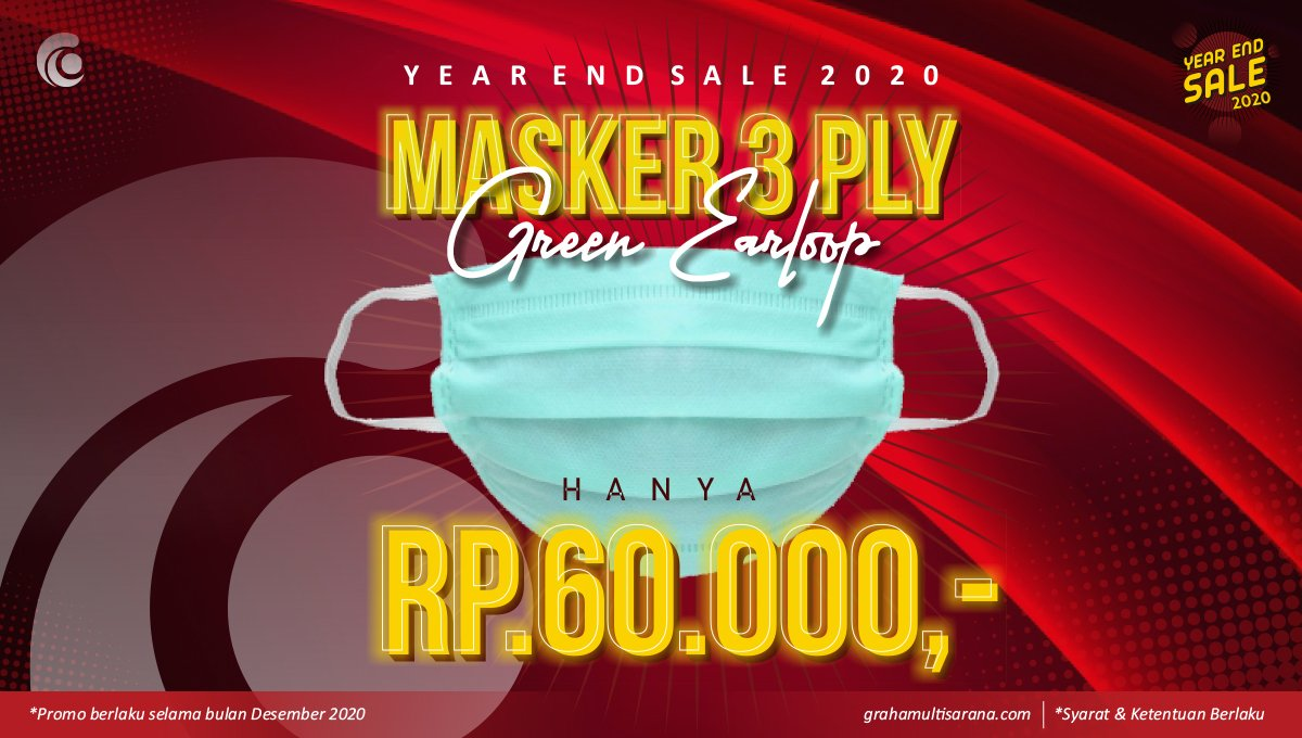 masker 3 ply earloop murah