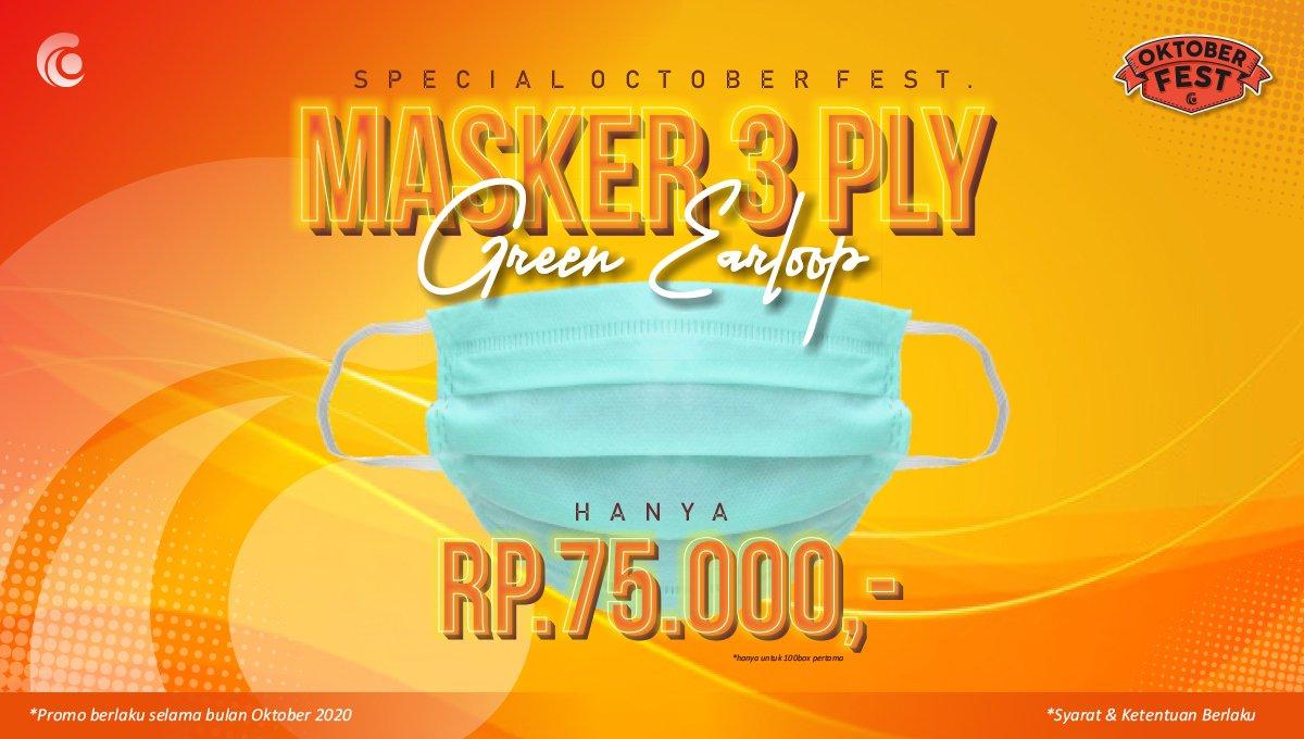 Slide Oktober fest Masker 3 ply