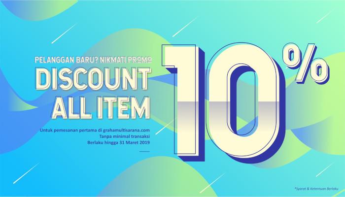 Diskon 10% all item