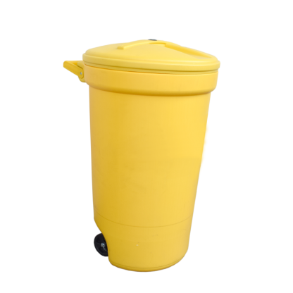 ANTUS Round Wheel Container 120 lt Yellow