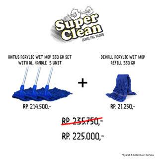 Promo Bundle Acrylic Wet Mop Set