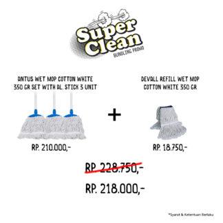 Promo Bundle Wet Mop Cotton White