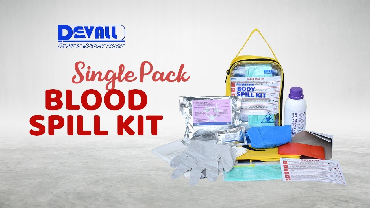 Single Pack Body Spill Kit (Blood)