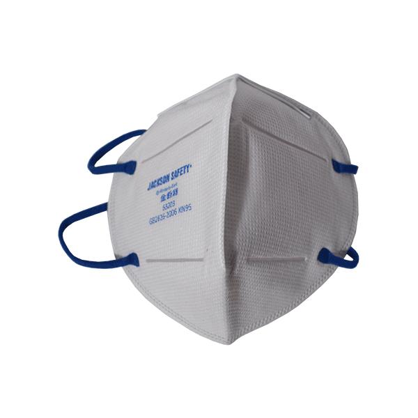 JACKSON SAFETY R10 KN95 Foldflat Particulate Filtering Face Mask (No Valve)