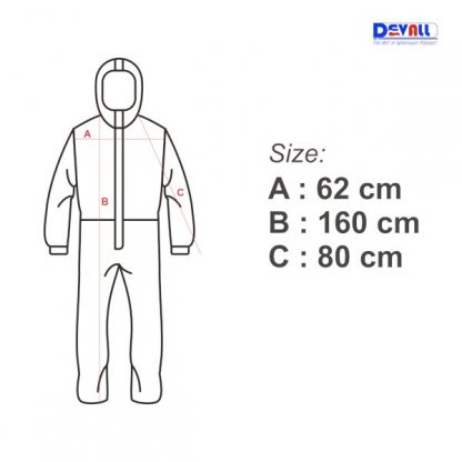 microporous coverall size chart