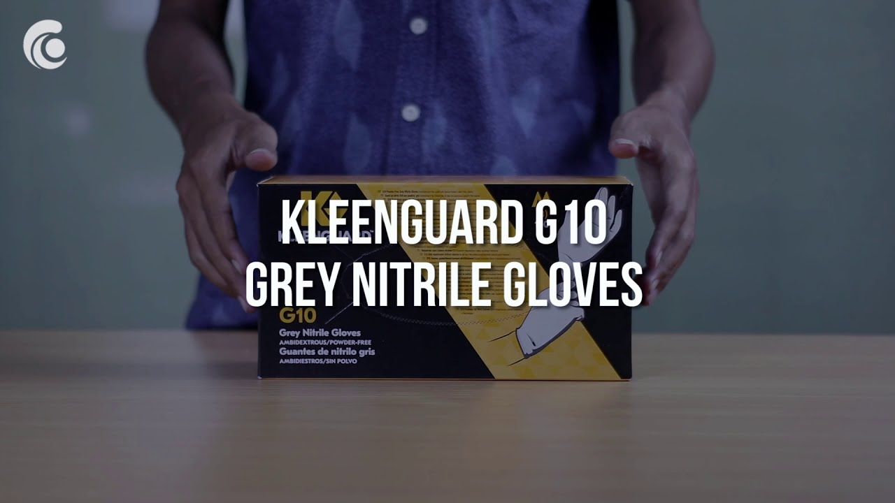 KLEENGUARD G10 Grey Nitrile Gloves