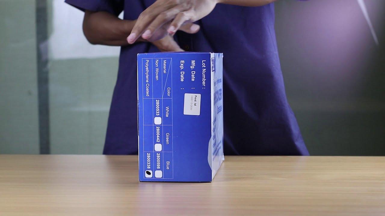DEVALL Disposable PE Shoe Cover Blue