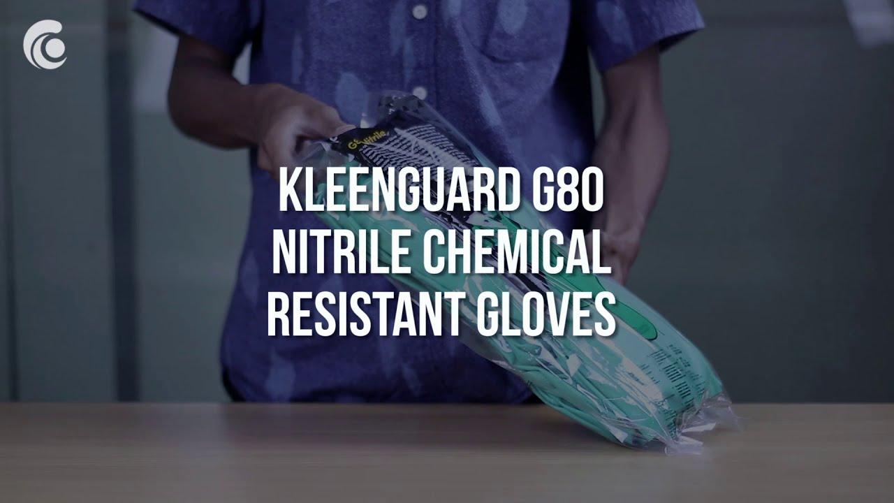 KleenGuard G80 Nitrile Chemical Resistant Gloves