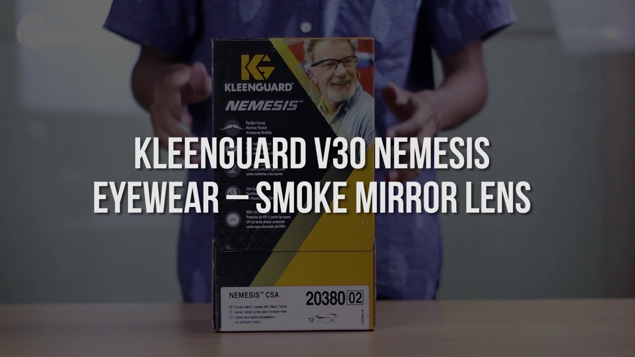 KleenGuard V30 NEMESIS Eyewear – SMOKE MIRROR LENS
