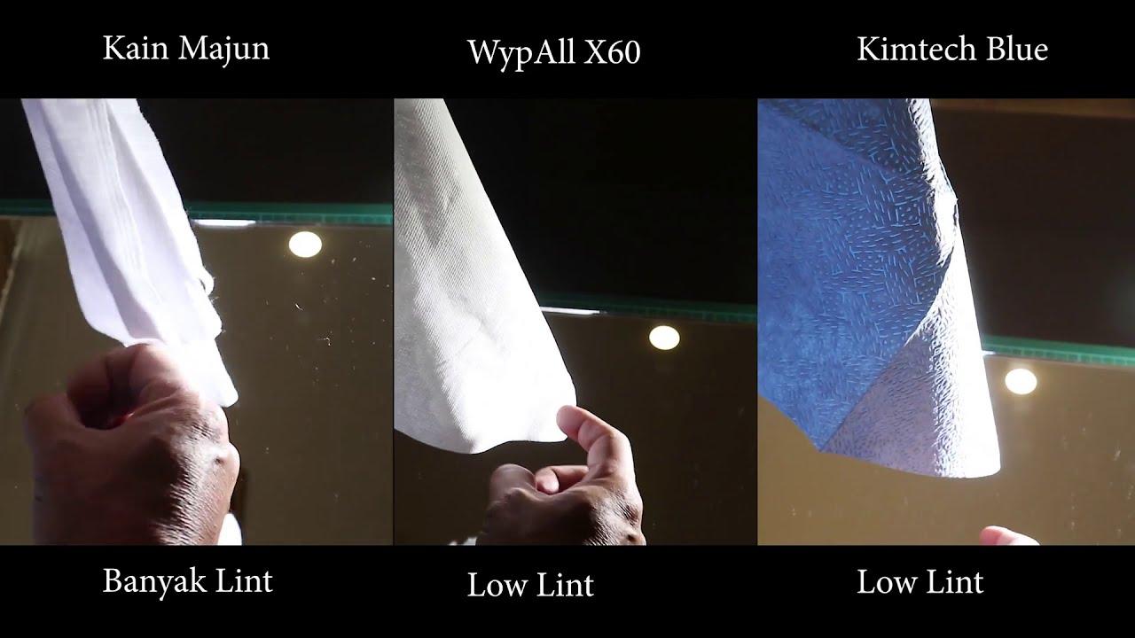 Perbandingan Wypall X60, Kimtech Blue dan Kain Majun – Kecepatan dan Daya Serap